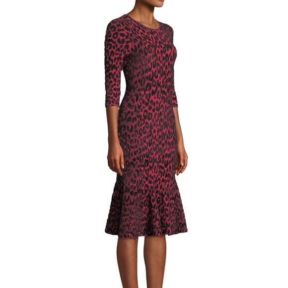 Milly Dresses & Skirts - Milly Leopard Animal Print Mermaid Midi Dress